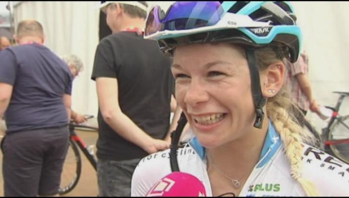 Mieke Docx superblij met 4de plaats bij vrouwen
