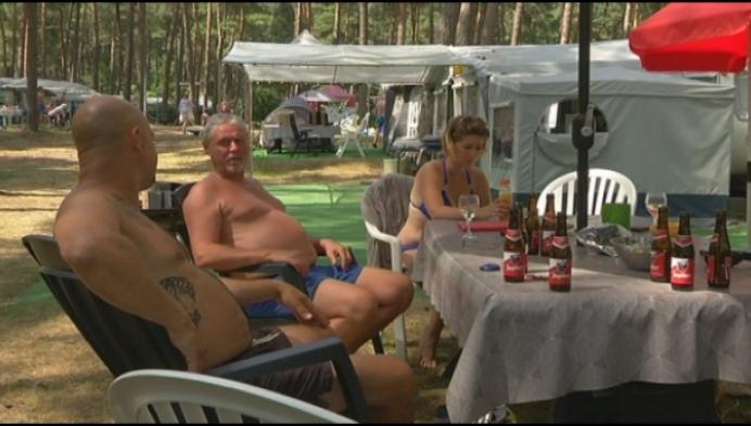 Camping Lilse Bergen overvol maar geen last van hitte