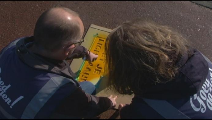 Street tags moeten fietsers in Turnhout sensibiliseren