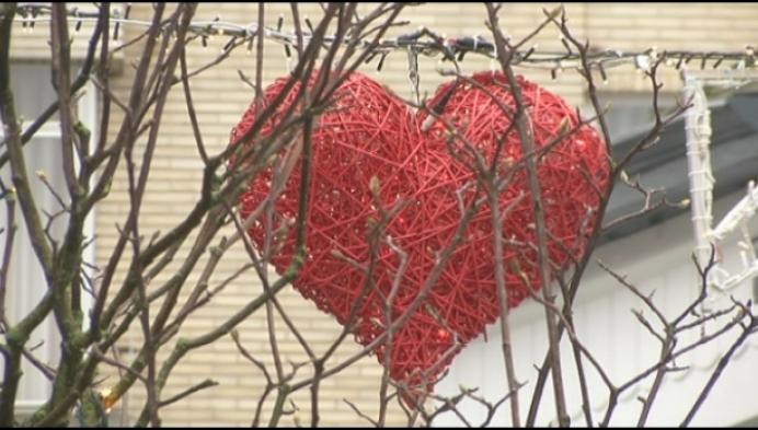 Sfeervolle Valentijnsversiering in Mechelse binnenstad
