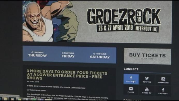 Geen Groezrock in mei