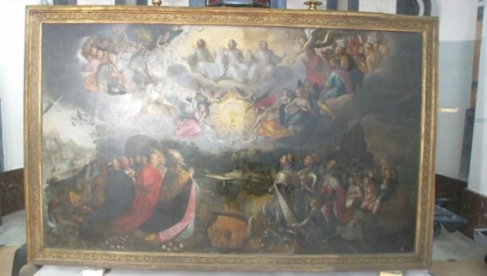 """Schilderij """"'Aanbidding van de Zoete Naam Jezus"""" krijgt opknapbeurt"""