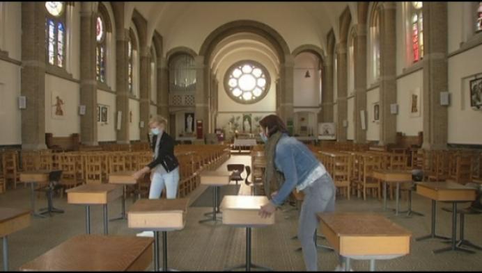 Olense zesdejaars krijgen morgen les in ... de Sint-Jozefkerk