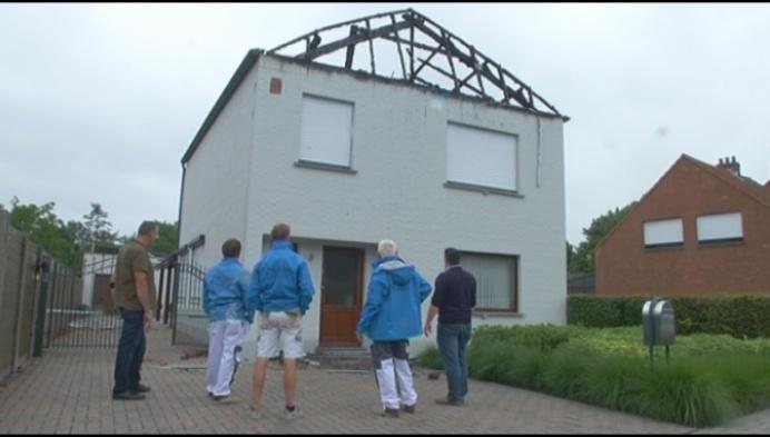 Bedrijf gaat kosteloos uitgebrande woning herschilderen