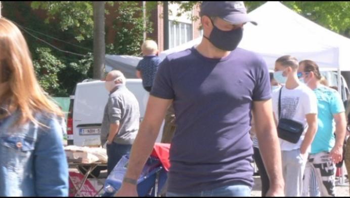 Verplicht mondmaskers op de dierenmarkt in Mol