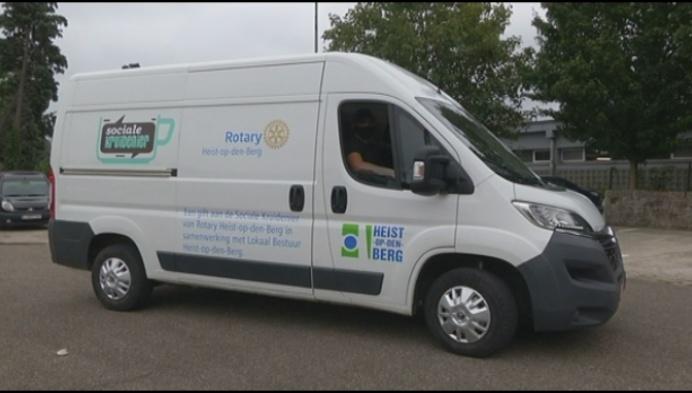 Eigen bestelwagen voor de sociale kruidenier in Heist