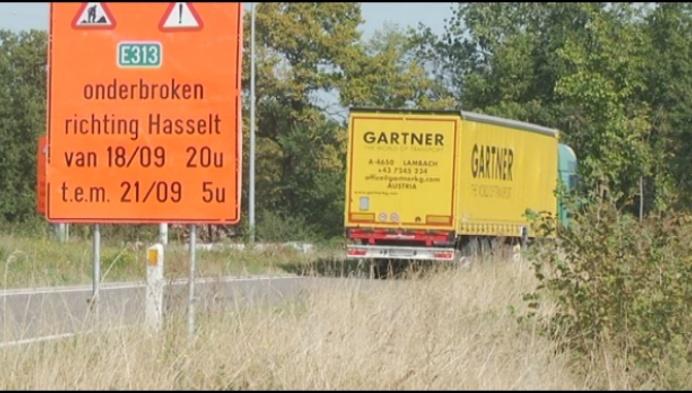 Opnieuw veel verkeershinder verwacht op E313 richting Hasselt