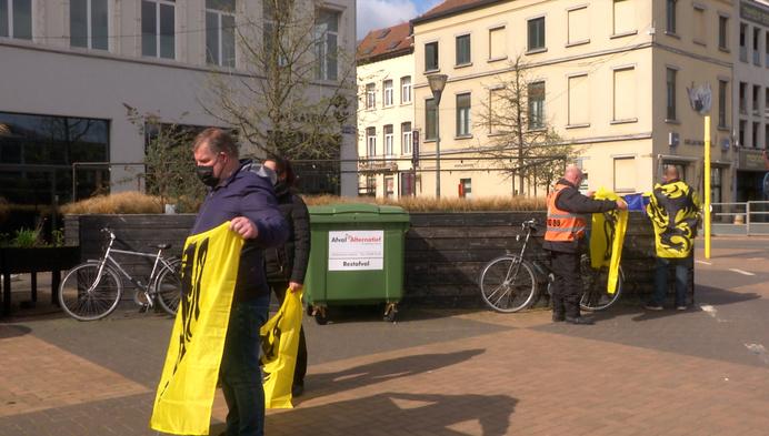 Protestactie in Mechelen tegen coronamaatregelen