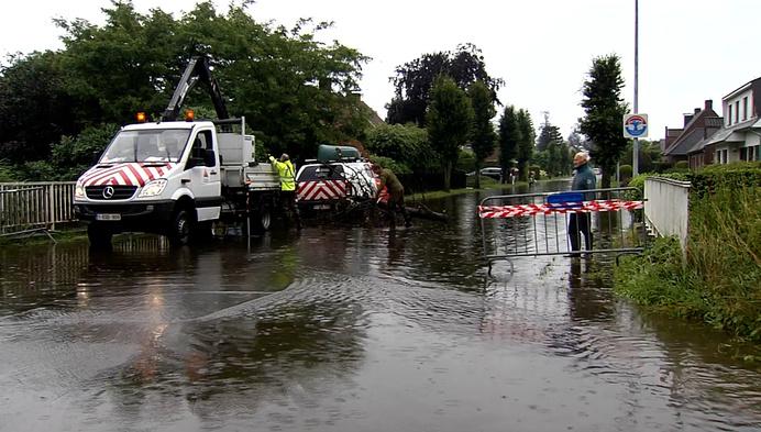 Rivier de Aa treedt buiten zijn oevers in Turnhout