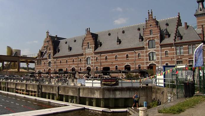 Eerste keer zwemmen in Keerdok Mechelen