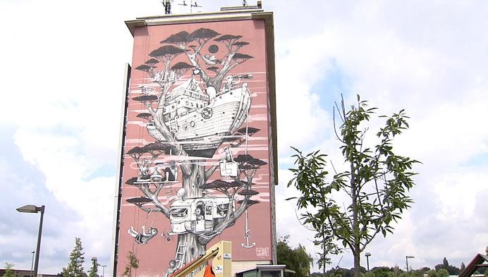 Kunstenaars leven zich uit op Mechelse muren