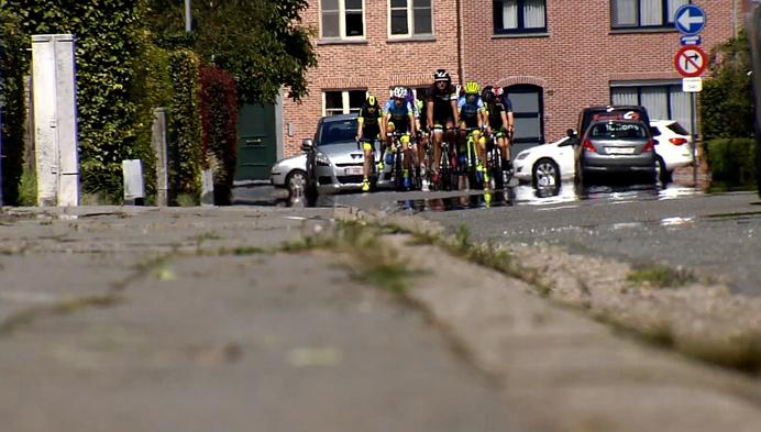 Aspiranten verkennen het parcours voor het BK zondag in Hoogstraten