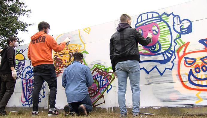 Stad Geel krijgt eerste legale graffitimuur